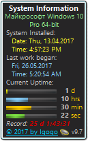 System Uptime Full Plus gadget