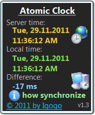 Atomic Clock Screen shot