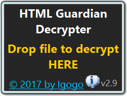 HTML Guardian Decrypter Screen shot