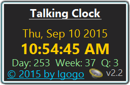 See more of Talking Clock