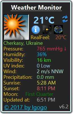 Weather Monitor Screen shot
